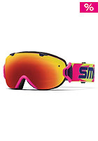 SMITH OPTICS I/OS Goggle neon archive red sol-x mirror/blue sensor mirror