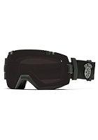 SMITH OPTICS I/OX Goggle Black Sabotage blackout/red sensor mirror