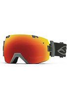 SMITH OPTICS I/OX Goggle Charcoal red sol-x mirror/blue sensor mirror