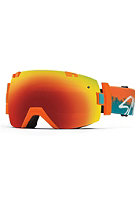 SMITH OPTICS I/OX Goggle Orange Kook red sol-x mirror/blue sensor mirror
