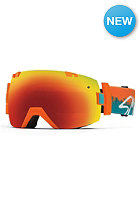 SMITH OPTICS I/OX Goggle Orange Kook red sol-x mirror/blue sensor mirror