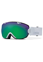 SMITH OPTICS IO/S Goggle white prism green sol-x mirror/red sensor mirror