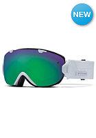 SMITH OPTICS IO/S Goggle white prism green sol-x mirror/red sensor mirror