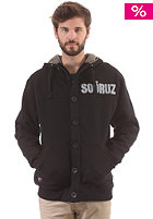 SO�RUZ Mout Hooded Zip Sweat black