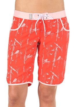 SORUZ Womens Tema Middle Boardshort red