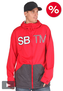 SPECIAL BLEND DBL Team Hooded Zip Fleece red rum
