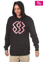 SPECIAL BLEND Emblem Hooded Zip Sweat blackout