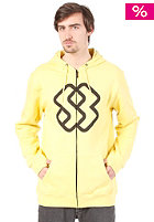 SPECIAL BLEND Faded Hooded Zip Sweat mellow yellow