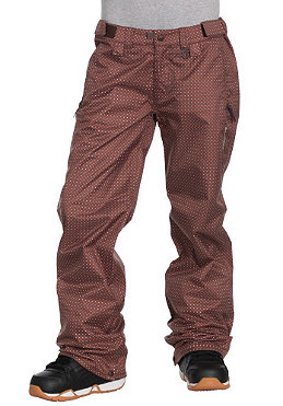SPECIAL BLEND Womens Demi Pant chocolate dots