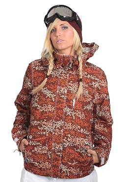 SPECIAL BLEND Womens Joy Jacket brown flower