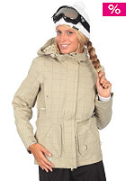 SPECIAL BLEND Womens Saga Jacket tan check grid