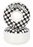 SPEED DEMONS Wheels White Checks 51mm One Colour