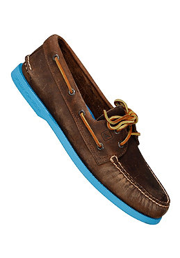 SPERRY TOP SIDER Authentic Original 2 Eye Leather dark brown/blue