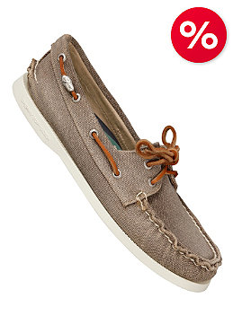 SPERRY TOP SIDER Womens Authentic Original 2 Eye Salt Washed greige