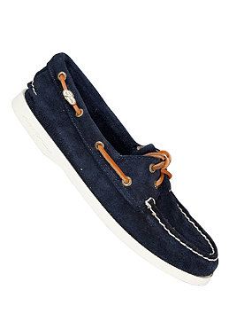 SPERRY TOP SIDER Womens Authentic Original 2 Eye Suede navy