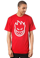SPITFIRE Bighead S/S T-Shirt cardinel red/white