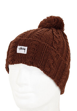 ST�SSY Mathew Cuff Beanie brown