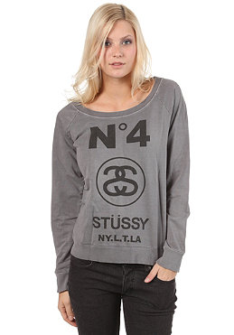 ST�SSY Womens No. 4 Vintage Crew Sweatshirt dark grey