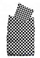SUENOS Checkerboard Bedding Set 135x200/80x80cm black/white