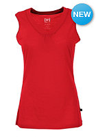 SUPER.NATURAL Womens Sleeveless V Neck 140 true red/hibiscus