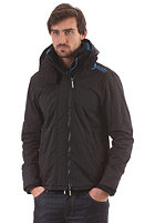 SUPERDRY Hooded Arctic Pop Zip Windcheater Jacket black/fluro blue