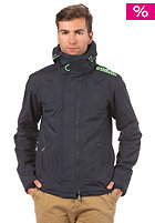 SUPERDRY Hooded Artic Pop Zip Windcheater Jacket french navy/fluro green emb