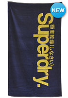 SUPERDRY Logo Beach Towel acid navy