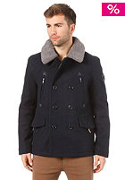 SUPERDRY Merchant Pea Coat Jacket murdoch navy