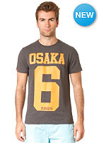 SUPERDRY Osaka Entry S/S T-Shirt charcoal marl/jaffa