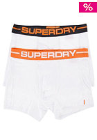 SUPERDRY Sports Doublepack Boxershort white/blk & white/orng