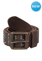 SUPERDRY Super Scrubbed Stud Belt brown leather