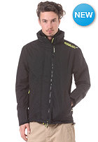 SUPERDRY Technical Pop Zip Windbreaker black/fluro yellow