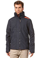 SUPERDRY Technical Pop Zip Windcheater Jacket french navy/orangeade