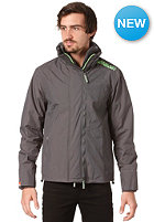 SUPERDRY Technical Pop Zip Windcheater Jacket light charcoal/fluro green