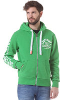 SUPERDRY Track and Field Hooded Zip Sweat bright kelly