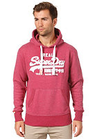 SUPERDRY Vintage Logo Entry Hooded Sweat cherry marl