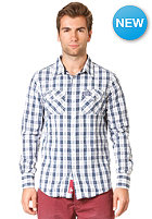 SUPERDRY Washbasket Check L/S Shirt small checkerboard blue check