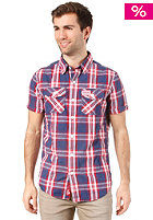 SUPERDRY Washbasket Check S/S Shirt stream check blue