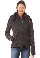 SUPERDRY Womens Arctic Windcheater Pop Hooded Zip Jacket black/punk pink