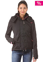 SUPERDRY Womens Arctic Windcheater Pop Hooded Zip Jacket black/punk pink