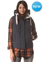 SUPERDRY Womens Chevron University Gilet Jacket eclipse navy
