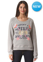 SUPERDRY Womens Cross Country Folk Crew Sweat grey marl