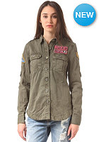 SUPERDRY Womens Delta Box L/S Shirt military green