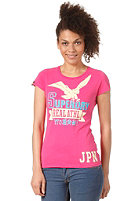 SUPERDRY Womens Eagle Real Athl Reworked Classic S/S T-Shirt punk pink