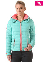 SUPERDRY Womens Fuji Through Hooded Zip Sweat aqua