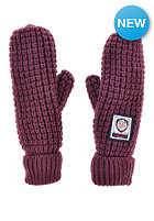 SUPERDRY Womens Herder Mitten Gloves plum