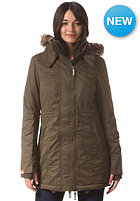 SUPERDRY Womens Hooded Microfibre Super Wind Parka army/cream
