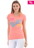Womens New Angels Neon Lights Entry S/S T-Shirt coral marl