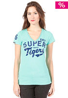 SUPERDRY Womens New Sports Pitch Vee S/S T-Shirt cool green