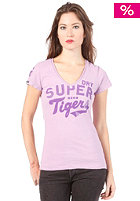 SUPERDRY Womens New Sports Pitch Vee S/S T-Shirt palest purple